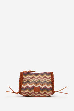 Springfield Raffia bag with stitching brown