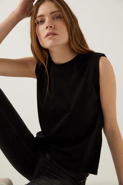 Springfield T-shirt épaulettes noir