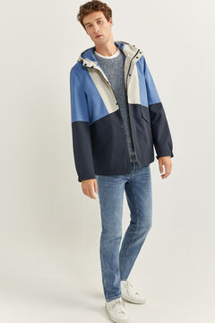 Springfield RECYCLED POLYESTER COLOUR BLOCK JACKET blue