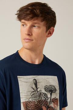 Springfield T-shirt imprimé floral bleuté