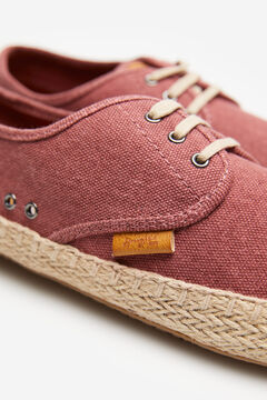 Springfield Washed canvas espadrille deep red