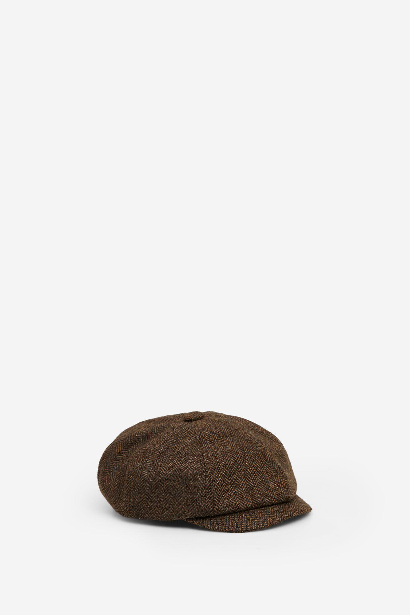 novísimo selección extremadamente único Moda Gorra de lana de espiga marrón | Complementos | Springfield