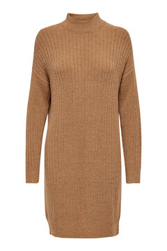 Springfield Jersey-knit mock turtleneck dress brown
