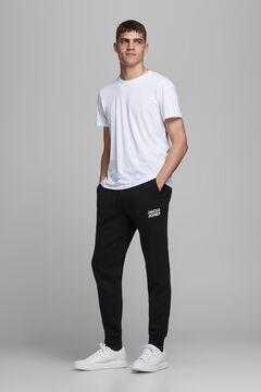 Springfield Pantalón chándal negro