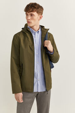 Springfield Hooded technical parka dark gray