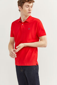 Springfield Essential slim fit polo shirt brick