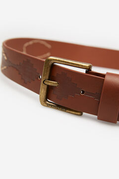 Springfield Faux leather native belt brown