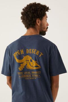Springfield Camiseta calavera azulado