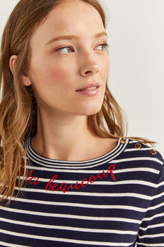 Springfield Pull « Merci Beaucoup » blue mix