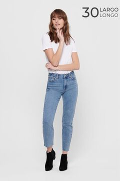 Springfield Straight high rise jeans bluish