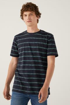 Springfield Ethnic striped T-shirt navy mix