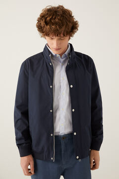 Springfield Technical stowaway hood jacket blue