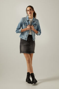 Springfield Organic cotton denim jacket blue