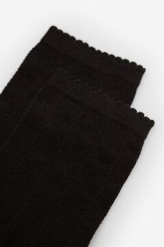 Springfield Calcetín trenzado negro