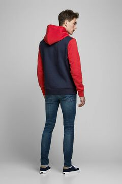 Springfield Sustainable block colour sweatshirt piros