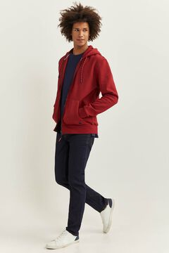 Springfield ESSENTIAL HOODED SWEATSHIRT royal red