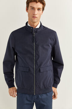 Springfield LIGHTWEIGHT, WATER-REPELLENT, WINDPROOF AND BREATHABLE JACKET WITH STAND-UP COLLAR blue