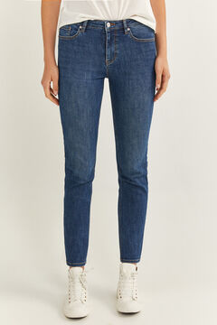 Springfield Straight Jeans steel blue