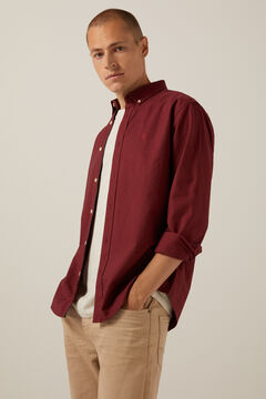 Springfield Coloured Oxford shirt red
