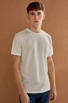 Springfield Camiseta básica árbol blanco