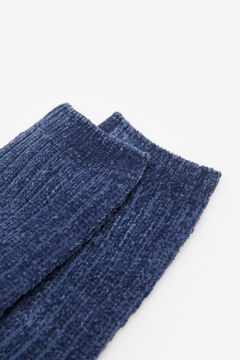 Springfield Chenille Jacquard Socks deep red