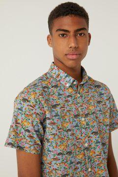 Springfield Italian printed short-sleeved shirt natural