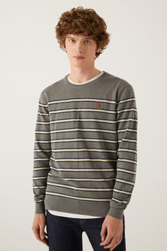 Springfield Essential melange stripes jumper grey mix