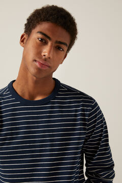 Springfield Long-sleeved striped T-shirt blue