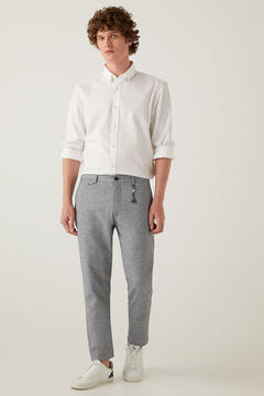 Springfield Two-tone stretch linen chinos bluish
