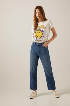 Springfield Jeans Straight Lavagem Sustentável azul aço