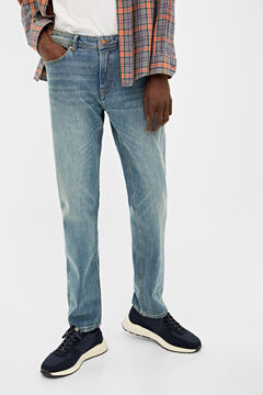Springfield MEDIUM WASH SLIM FIT JEANS indigo blue