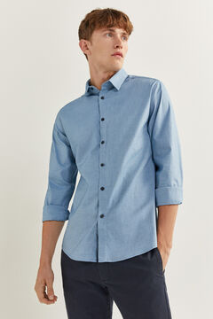 Springfield PINPOINT SLIM FIT SHIRT mallow