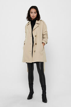 Springfield Button front trench coat gray