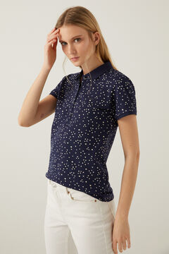 Springfield Organic cotton polo shirt steel blue