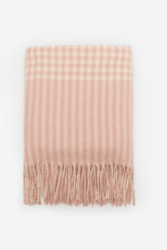 Springfield Pink Checked Scarf strawberry