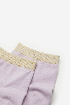 Springfield Lurex border socks purple