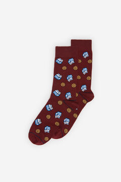 Springfield Cookies jacquard socks brick