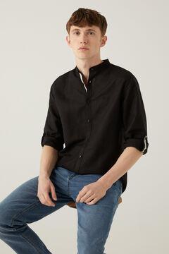 Springfield Camisa lino mao marino