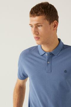 Springfield Essential slim polo shirt blue