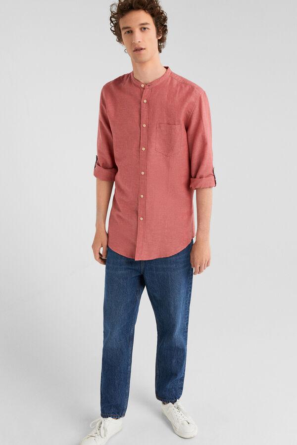 43d7907bcb7df Springfield Camisa lino rosa