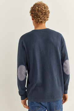 Springfield Essential cotton elbow pads jumper blue