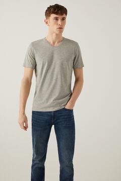 Springfield T-shirt bico slim cinza