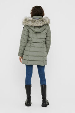 Springfield Fur hood quilted coat green