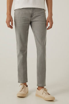 Springfield Jeans slim cinzentos lavagem clara cinza