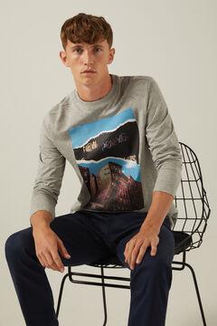 Springfield Long-sleeved urban T-shirt gray