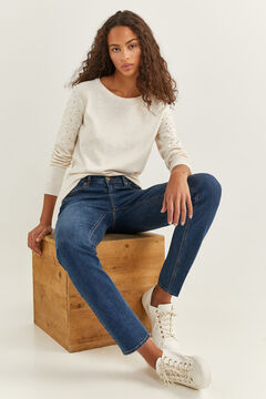 Springfield Studded Sleeves Jumper camel