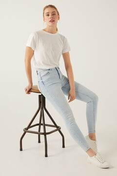 Springfield Sustainable Wash Skinny High Rise Jeans blue