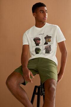 Springfield T-shirt Gorillaz écru