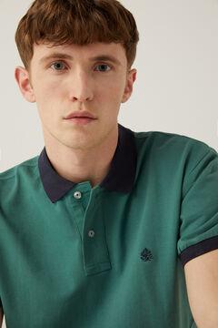 Springfield Kontrasztos piké póló zöld