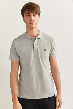 Springfield SLIM FIT PIQUE POLO SHIRT grey